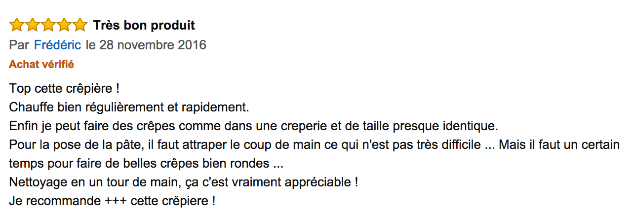 commentaire tefal authentique